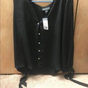 Black Button-Up Blouse